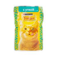 Friskies взрослых кошек утка в подливе 85 гр