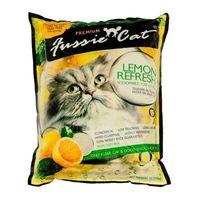 Fussie Cat с ароматом лимона, 10 л наполнитель комкующийся