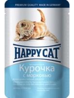 Happy Cat для котят с курицей и морковью в соусе 100 г