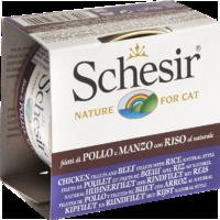 Schesir Cat 85г конс. д/кошек Куринное филе, Говядина филе с Рисом