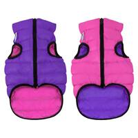 Двусторонняя курточка AiryVest розово-фиолетовая, размер S35
