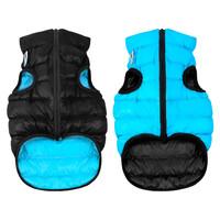 Двусторонняя курточка AiryVest черно-голубая, размер S35