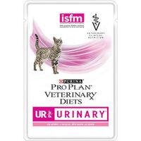 Проплан паучи д/кошек при мочекаменной болезни VETERINARY DIETS UR URINARY (лосось), 85 гр.