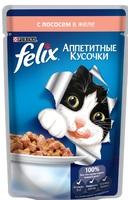 Felix Аппетитные кусочки с лососем в желе, 85 гр.