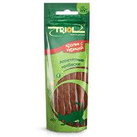 Триол (TRIOL) аппетитные колбаски из кролика с курицей для кошек, 40 гр.