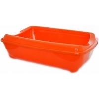 """Туалет Moderna """"Aristo-o-Tray"""" с бортиком 31*42*13 Оранжевый, серый д/кошек"""