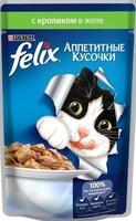 Felix Аппетитные кусочки с кроликом в желе, 85 гр.