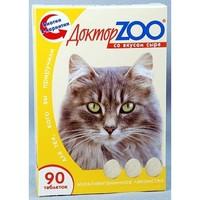 Доктор ЗОО  д/кошек  Биотин со вкусом сыра  90 шт