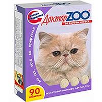 Доктор ЗОО  д/кошек  Биотин со вкусом лосося  90 шт