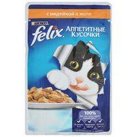 Felix Аппетитные кусочки с индейкой в желе, 85 гр.