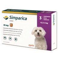 Симпарика таблетки для собак от блох и клещей 10 мг, вес 2,5-5 кг 3 табл/уп