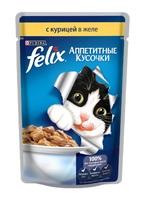 Felix Аппетитные кусочки с курицой в желе, 85 гр.