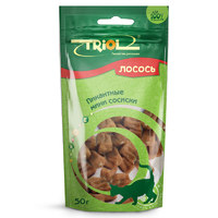 Триол (TRIOL) пикантные мини сосиски из лосося для кошек, 50 гр.