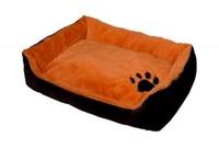 """Лежанка для кошек прямоугольная пухлая """"TIGER"""" 46*36*15 см"""