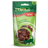 Триол (TRIOL) пикантные мини сосиски из утки для кошек, 50 гр.