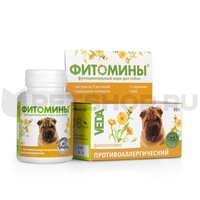 Фитомины против аллергии д/собак 100таб