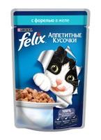 Felix Аппетитные кусочки с форелью в желе, 85 гр.