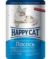 Happy Cat с лососем в соусе 100 г