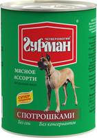 Четвероногий гурман «Мясное ассорти» для собак с потрошками 340 гр.