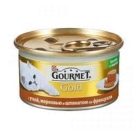 Gourmet Gold паштет с уткой, морковью и шпинатом по-французски 85 г