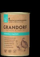Grandorf 400г ж\б для собак куропатка индейка