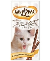 «Мнямс» лакомство для кошек цыпленок/печень, 3 шт.
