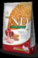 Корм N&D Dog  для мелких пород Курица-Гранат 2,5 кг низкозерновой