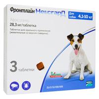 Фронтлайн нексгард – таблетки жевательные для собак весом от 4 до 10 кг 28,3  мг против блох и клещей (3 таб)