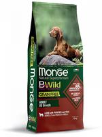 Корм MONGE BWILD 12кг для собак всех пород ягненок картофель горох беззерновой