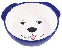 миска керамическая керамикАрт мордочка собаки 180мл