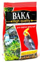 Вака High Quality корм для средних попугаев, 500 гр.